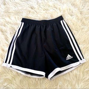 Adidas Black Soccer Running Shorts
